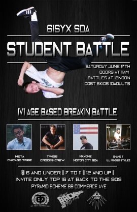61Syx SDA Student Battle Flyer