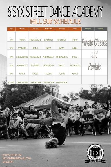 61Syx SDA Fall Schedule