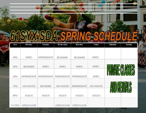 61Syx SDA 2018 Spring Schedule