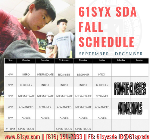 61Syx SDA Fall 18 Schedule