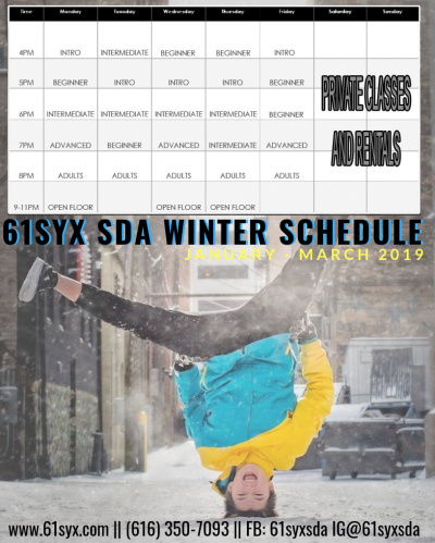 61Syx Winter 19 Schedule