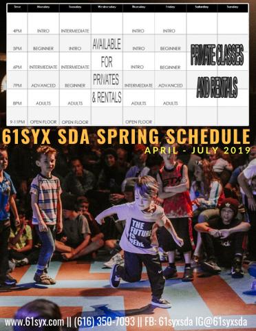 61Syx SDA 2019 Spring Schedule