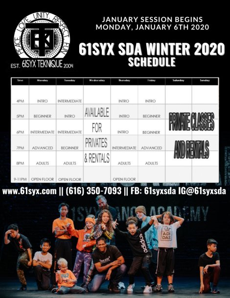 61Syx SDA 2019 Fall Schedule